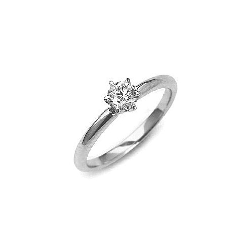 IMAGE OF 31-633 Diamond Promise Ring_White GOLD FRIENDS RING WITH 6 PRONGS