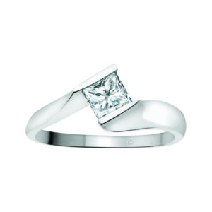 image of 31-E100 ENGAGEMENT SOLITAIRE RING_ PRINCESS CUT DIAMOND