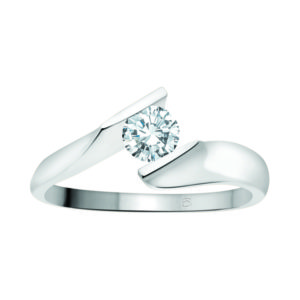 image of 31-E101 ENGAGEMENT SOLITAIRE RING_ BRILLIANT CUT DIAMOND