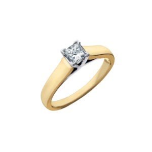 IMAGE OF 31-E102 ENGAGEMENT SOLITAIRE RING_ PRINCESS CUT DIAMOND