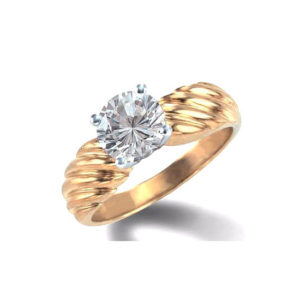 IMAGE OF 31-E104 ENGAGEMENT SOLITAIRE RING_ BRILLIANT CUT DIAMOND