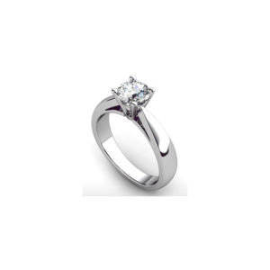 IMAGE OF 31-E106 ENGAGEMENT SOLITAIRE RING_ BRILLIANT CUT DIAMOND