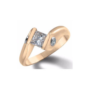 image of 31-E111 ENGAGEMENT SOLITAIRE RING_ PRINCESS CUT DIAMOND