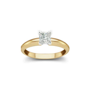 IMAGE OF 31-E112 ENGAGEMENT SOLITAIRE RING_ PRINCESS CUT DIAMOND