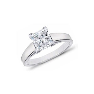 image of 31-E113 ENGAGEMENT SOLITAIRE RING_ PRINCESS CUT DIAMOND