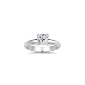 image of 31-E114 ENGAGEMENT SOLITAIRE RING_ PRINCESS CUT DIAMOND