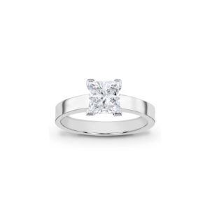 image of 31-E115 ENGAGEMENT SOLITAIRE RING_ PRINCESS CUT DIAMOND