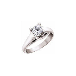 image of 31-E116 ENGAGEMENT SOLITAIRE RING_ PRINCESS CUT DIAMOND