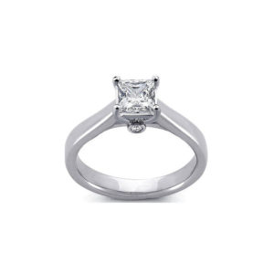 image of 31-E117 ENGAGEMENT SOLITAIRE RING_ PRINCESS CUT DIAMOND