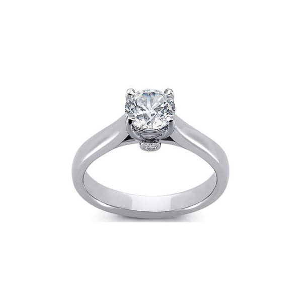 IMAGE OF 31-E118 ENGAGEMENT SOLITAIRE RING_ BRILLIANT CUT DIAMOND