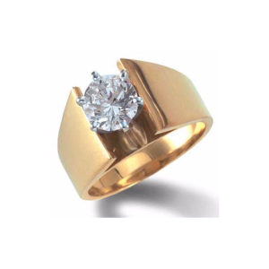 IMAGE OF 31-E119 ENGAGEMENT SOLITAIRE RING_ BRILLIANT CUT DIAMOND