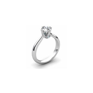 image of 31-E123 ENGAGEMENT SOLITAIRE RING_ BRILLIANT CUT DIAMOND