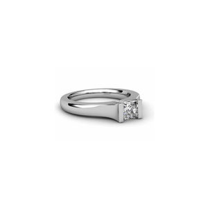 IMAGE OF 31-E126 ENGAGEMENT SOLITAIRE RING_ PRINCESS CUT DIAMOND