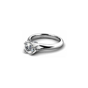 IMAGE OF 31-E129 ENGAGEMENT SOLITAIRE RING_ BRILLIANT CUT DIAMOND