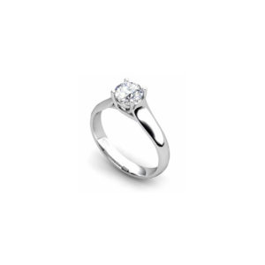 IMAGE OF 31-E132 ENGAGEMENT SOLITAIRE RING_ BRILLIANT CUT DIAMOND