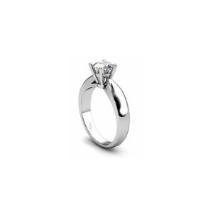 IMAGE OF 31-E136 ENGAGEMENT SOLITAIRE RING_ BRILLIANT CUT DIAMOND