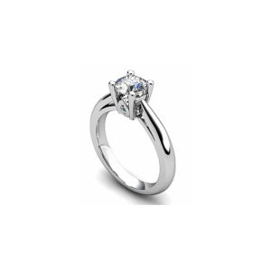 IMAGE OF 31-E137 ENGAGEMENT SOLITAIRE RING_ BRILLIANT CUT DIAMOND