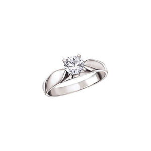 image of 31-E138 ENGAGEMENT SOLITAIRE RING_ BRILLIANT CUT DIAMOND