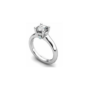 IMAGE OF 31-E142 ENGAGEMENT SOLITAIRE RING_ BRILLIANT CUT DIAMOND