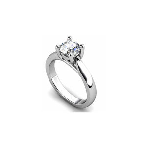 IMAGE OF 31-E143 ENGAGEMENT SOLITAIRE RING_ BRILLIANT CUT DIAMOND