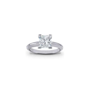 IMAGE OF 31-E147 ENGAGEMENT SOLITAIRE RING_ PRINCESS CUT DIAMOND