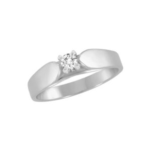 image of 31-E165 ENGAGEMENT SOLITAIRE RING_ BRILLIANT CUT DIAMOND