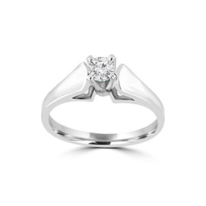 IMAGE OF 31-E168 ENGAGEMENT SOLITAIRE RING_ BRILLIANT CUT DIAMOND