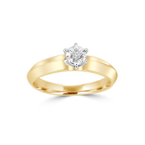 IMAGE OF 31-E172 ENGAGEMENT SOLITAIRE RING_ BRILLIANT CUT DIAMOND