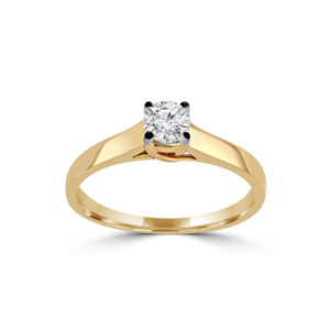 IMAGE OF 31-E200 ENGAGEMENT SOLITAIRE RING_ BRILLIANT CUT DIAMOND