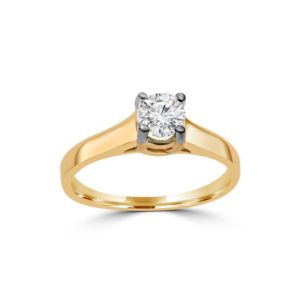 IMAGE OF 31-E201 ENGAGEMENT SOLITAIRE RING_ BRILLIANT CUT DIAMOND