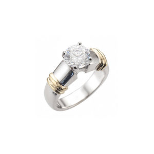 image of 31-E202 ENGAGEMENT SOLITAIRE RING_ BRILLIANT CUT DIAMOND