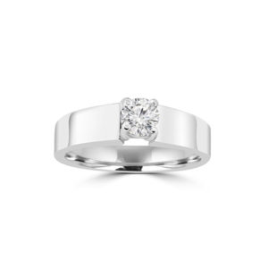 image of 31-E204 ENGAGEMENT SOLITAIRE RING_ BRILLIANT CUT DIAMOND