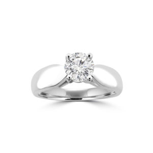 IMAGE OF 31-E205 ENGAGEMENT SOLITAIRE RING_ BRILLIANT CUT DIAMOND