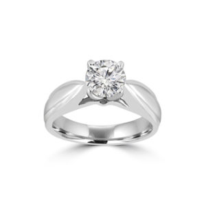 IMAGE OF CHARMING... Engagement ring set with a fine quality round brilliant cut diamond, Weighing 3/4Ct. SI-1 clarity and F-G color of good make and cut CERTIFIED diamond. Set with 4 prong setting 5.5mm wide shank high polished. Special price $3970.00 - This Item Comes With Certificate of Appraisal - 30 DAY SATISFACTION GUARANTEED OR MONEY BACK. Free Shipping
