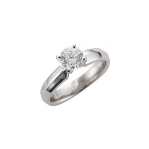 IMAGE OF 31-E209 ENGAGEMENT SOLITAIRE RING_ BRILLIANT CUT DIAMOND