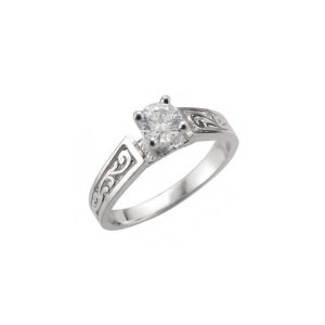 IMAGE OF 31-E210 ENGAGEMENT SOLITAIRE RING_ BRILLIANT CUT DIAMOND