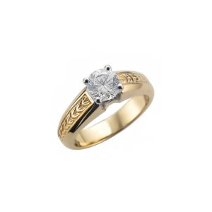IMAGE OF 31-E212 ENGAGEMENT SOLITAIRE RING_ BRILLIANT CUT DIAMOND