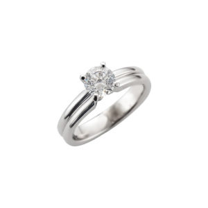 image of 31-E214 ENGAGEMENT SOLITAIRE RING_ BRILLIANT CUT DIAMOND