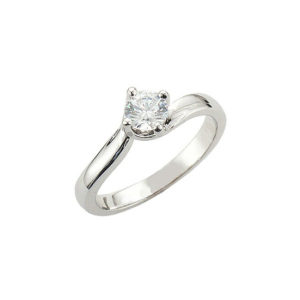 image of 31-E215 ENGAGEMENT SOLITAIRE RING_ BRILLIANT CUT DIAMOND