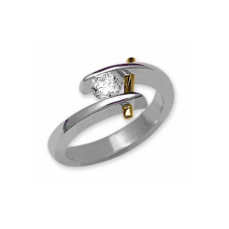 IMAGE OF 31-X833 Diamond Promise Ring_White and yellow gold JUST A BEAUTY