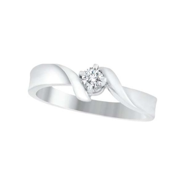 image of 71-044 PROMISE RINGS_BEST SELLER, UNIQUE STYLE DIAMOND SET FRIENDS RING