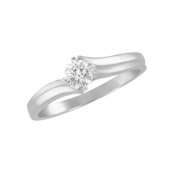 image of 71-1358 PROMISE RINGS_UNIQUE STYLE DIAMOND SET FRIENDS RING