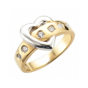image of 71-201 PROMISE RINGS_BEST SELLER, UNIQUE STYLE DIAMOND SET LOVE RING