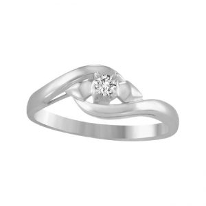 image of 71-AD113 PROMISE RINGS_UNIQUE STYLE DIAMOND SET FRIENDS RING