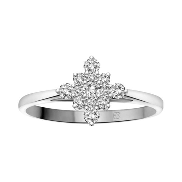 image of 71-DB44 PROMISE RINGS_UNIQUE STYLE DIAMOND SET FRIENDS RING_DB44