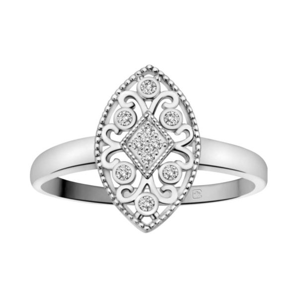 image of 71-DB50 PROMISE RINGS_MODERN AND STYLISH DIAMOND PROMISE RING