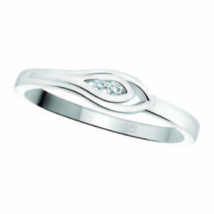 image of 71-DB56 PROMISE RINGS_MODERN AND STYLISH DIAMOND PROMISE RING