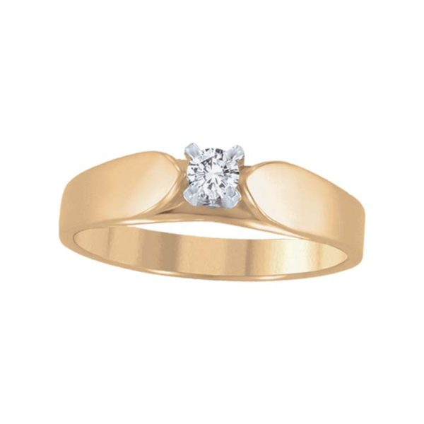 image of 71-LL062 Diamond Promise Ring_White and yellow gold
