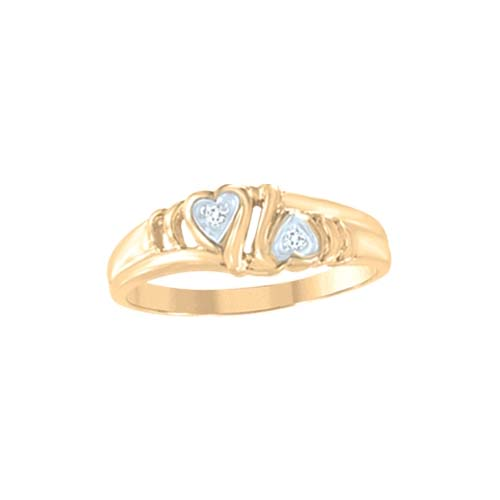 image of 71-LL128 PROMISE RINGS_UNIQUE STYLE DIAMOND SET FRIENDS RING