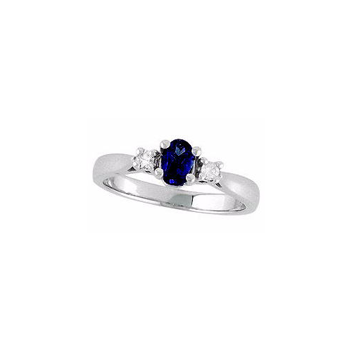 image of 71-S211 LADIES STONES RINGS_SAPPHIRE AND DIAMOND RING
